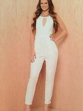 Cute Studded Ivory Jumpsuit ( S,M,L )