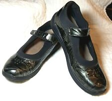 Drew Mary Jane Gray Metallic Comfort Shoes Size 12 Narrow Leather