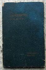 LANCHESTER 20 & 28 HP Car Descriptive Manual Handbook Pre 1910