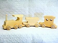 Wooden Toy 3 Car Train (Coal Car) (S)(Unfinished)