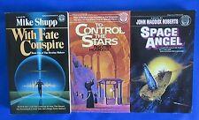 LOT of 3 Science Fiction Paperbacks F1 Mike Shupp Robert Hoskins Roberts VF-