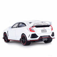 1:32 Honda Civic Type R Model Car Diecast Toy Collection Kids Gift Light Sound