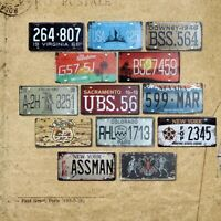 CUSTOM American License Plate USA Plaques Signs Car Number Garage Decoration