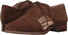 Nine West Niblo 8 M Brown Natural Beige Suede Flats Loafer Oxfords Lace Up MR$89