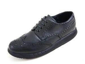 Prada Platform Lug Sole Brogues Black Leather Mens Size EU 39.5 US 6.5 $780