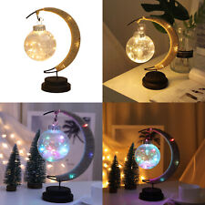 USB Rechargeable LED Colourful Moon Fairy Night Light Bedroom Desk Decor Lamp RH