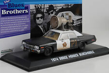 1974 Dodge Monaco Movie Blues Brothers Bluesmobile Horn on roof 1:43 Greenlight