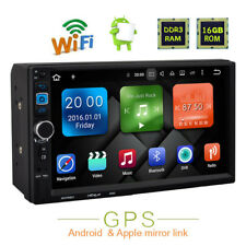 "2DIN 7"" Android Quad Core WIFI Double Car Radio Stereo MP5 Player Sat GPS Nav UK"