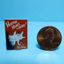 Dollhouse Miniature Replica of Book Dr Seuss Horton Hears a Who ~ B085