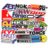 103Pcs Auto Car Parts NHRA Drag Racing Lot Vinyl Graphics Stickers Decals Sheet