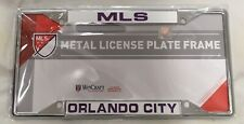 Orlando City MLS Soccer Club Wincraft Chrome Metal License Plate Frame