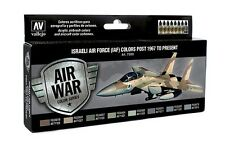 Israeli Air Force Aircraft Colors Post-1967: 8 Airbrush Paints (Vallejo 71203)