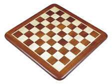 "Wide Bordered Flat Wooden Chess Board 23"" Golden Rosewood/Maple. Sq. Size 2-1/4"""