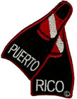 Scuba Dive -PUERTO RICO FIN EMBROIDRED PATCH*   NEW  ITEM *