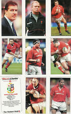 """WALES ON SUNDAY """"Lions 2001"""" Full Set 40 Rugby Cards Loose"""