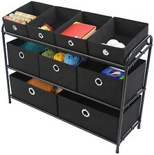 Multi Bin Basket Storage Organizer Cabinet Box Rack Shelf Toy Tool Office Dorm