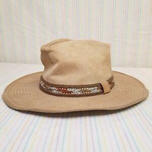 Vintage Tan Suede Larry Mahan Cowboy Western Hat A Resistol Product