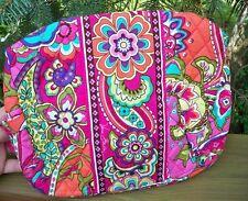 VERA BRADLEY Large Cosmetic Bag Makeup Travel College Pink Swirls FREE SHIP