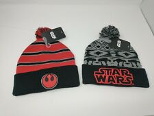 Bioworld Star Wars Cuffed Knit Hat with Pom Choose Rebel Alliance Red or Empire