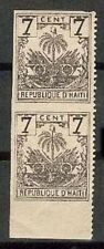 HAITI Sc 42 to 43 IMPERF PAIR BETWEEN  MINT HR FVF See DESCRIPTION SCAN
