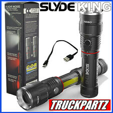 Nebo Slyde King Rechargeable LED Flashlight/Worklight 330 Lumen. New Slide 6434