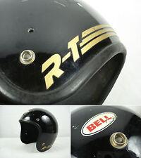 Vintage 1980 BELL R-T Motorcycle Helmet Black 7 56cm