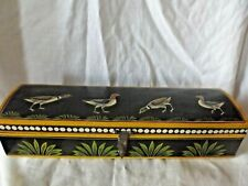 Vintage Pencil / Calligraphy Box Painted and Decorated with Collared Doves