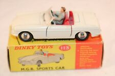 Dinky Toys 113 M.G.B. Sports car very near mint in box all original condition