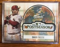 2018 TOPPS DAVID FREESE COMMEMORATIVE 2011 POSTSEASON LOGO PATCH CARDINALS