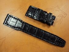 IWC TOP GUN black crocodile watch strap band Cheergiant hand made watch straps