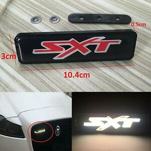 New SXT LED Light Car Front Grille Emblem Badge Illuminated Sticker 1pcs