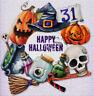 DMC Happy Halloween Cross Stitch Embroidery Pattern Chart PDF 14 Count