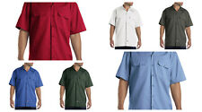 DICKIES 1574 MEN'S WORK SHIRT SHORT SLEEVE WORK UNIFORM BUTTON UP SHIRTS S - 4XL