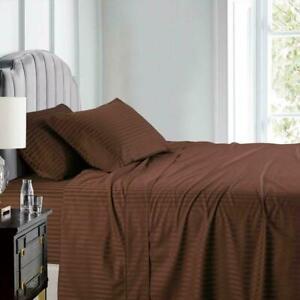 1000TC 100%Cotton Satin Strip White Duvet Cover Set Luxury Hotel Quality Bedding