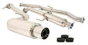Megan Racing Drift Spec Catback Exhaust Muffler Polish Tip For 11-16 Scion tC