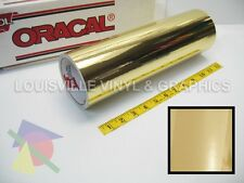 "12"" X 10ft - Oracal 351 Gold Chrome Polyester Hobby Cutting Vinyl Film"
