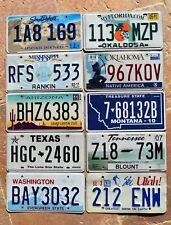 "10 US States "" SD FL OK MS UT AZ MT TX WA TN "" Bulk Set Mixed Lot License Plates"