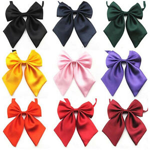 Women Lady Girls Butterfly Bowtie Silk Bow Ties Formal Bow Tie NewYHUK