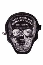 Cráneo tabla Ouija Cartera con Cremallera Negro-Halloween Gótico Monedero Billetera oculta