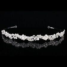 Bridal Rhinestone Crystal Prom Floral Wedding Headband Tiara 8884
