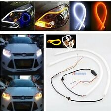 2PCS 60cm Switchback Flexible Tube LED Strip DRL Daytime Headlight Fr Audi-Style