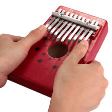 New Red 10Keys Kalimba Mbira Thumb Piano Instrument Accompaniment Portable