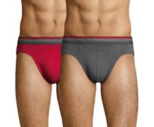 NEUF Lot 2 Slips HOM M/4 gris rouge caleçon boxer sous vêtement pack sport foot