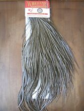 Fly Tying Whiting Bronze Half Rooster Saddle White dyed Dark Dun #A