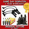 FORD FIESTA IV 1.6 IGNITION COIL + NGK SPARK PLUGS + SILICONE LEADS 2000>02
