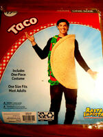 Cinco De Mayo Yellow Fabric Taco Hat Party Costume Selfie Photo Booth Prop