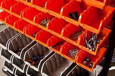 New listing Garage Bin Organizer Tool Bin Rack Tiered Storage Box Portable Rigid Shop Tools