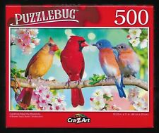 Puzzlebug Jigsaw Puzzle Cardinals Meet the Bluebirds NEW