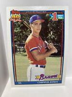 1991 Topps #333 Chipper Jones Atlanta Braves ROOKIE CARD HOF MINT🔥🔥