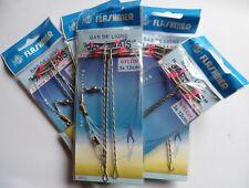 lot de 5 montages pêche mer Clipot Japonais 3 x 12cm Flashmer